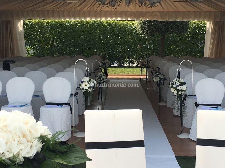 Cerimonia Black&White in villa