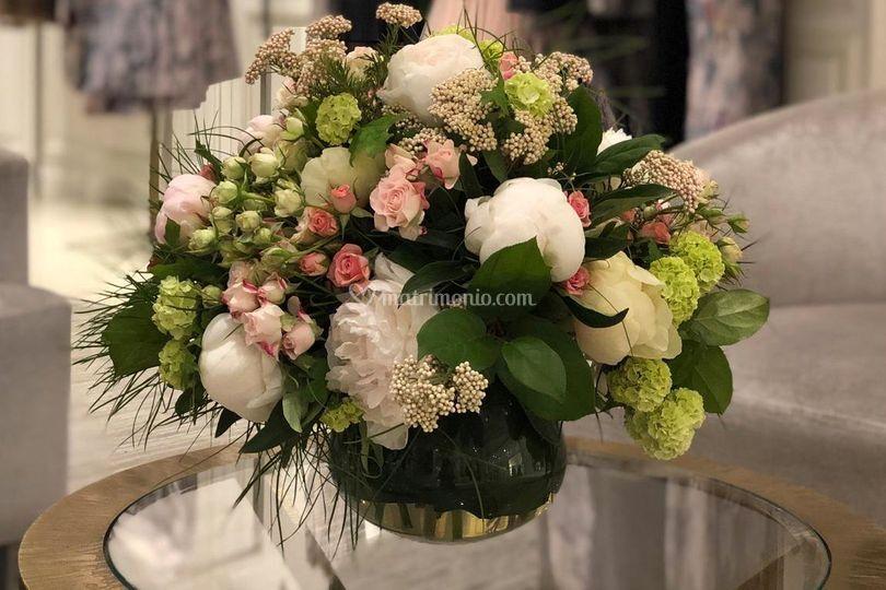 Bouquet per boutique dior