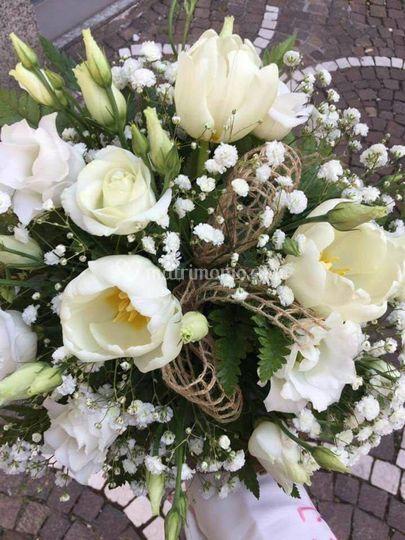 Bouquet Rustic con rose