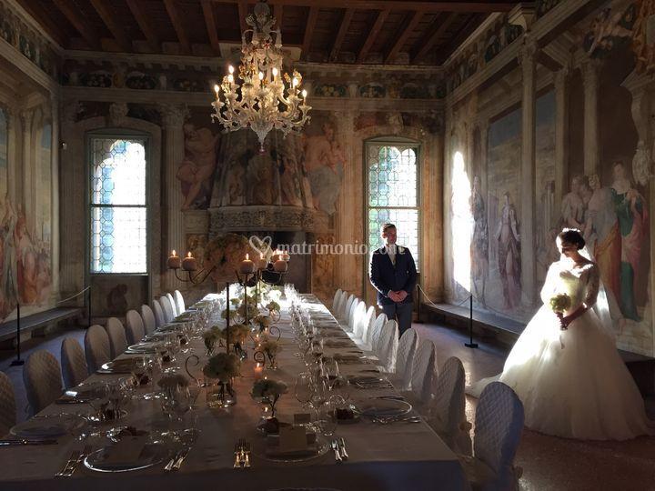 Tavolo imperiale affreschi