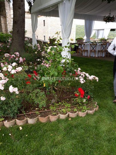 Allestimento in giardino