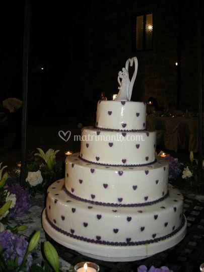 Torta matrimonio glicine