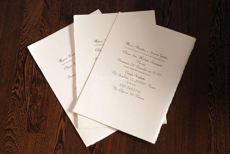 Inviti stampa tipografica
