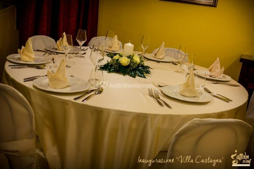 Tavolo di Villa Castagna