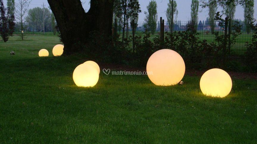 Suggestioni di luci nel Parco.