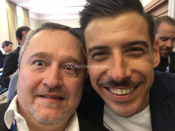 Con Francesco Gabbani