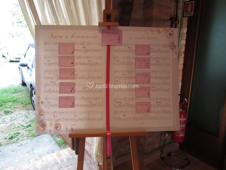 Music Tableau mariage