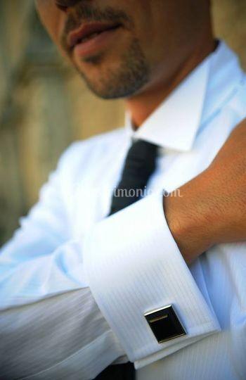 Camicia da sposo con gemello