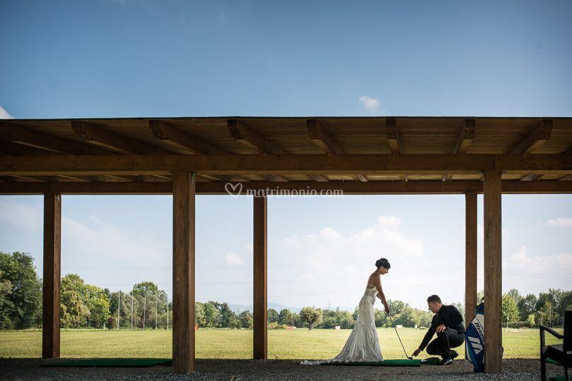 Foto nel campo da golf