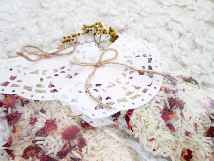 Sacchetti porta riso handmade