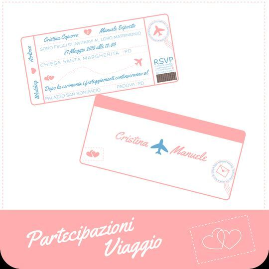 Partecipazioni biglietto aereo