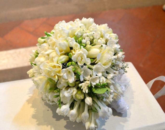 Bouquet fresia, stephanotis
