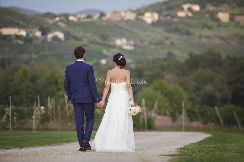 Sposi tra le vigne