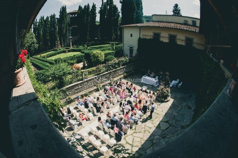 Cerimonia nel Chiostro