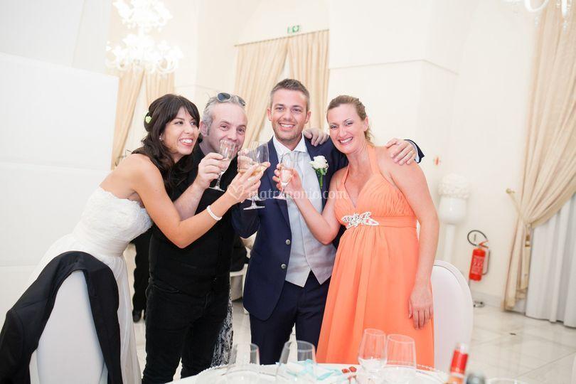 Con gli sposi Daniela e Ricky