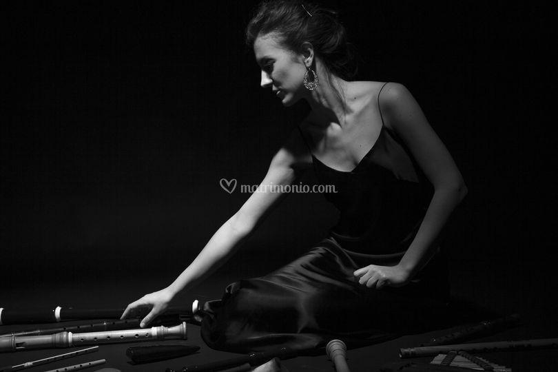 Martina Zambelli e flauti