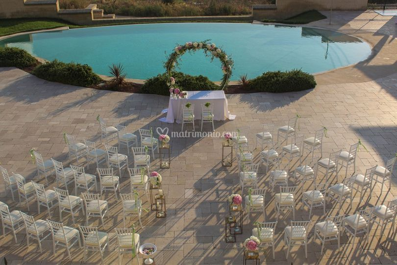 Matrimonio in piscina