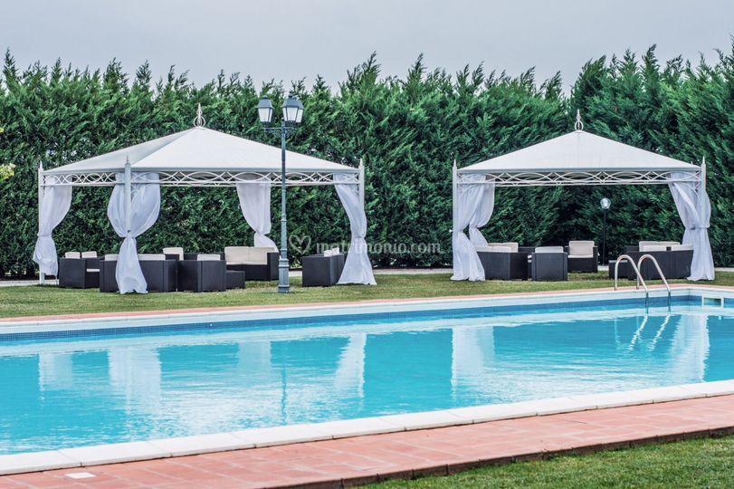 Gazebo e piscina