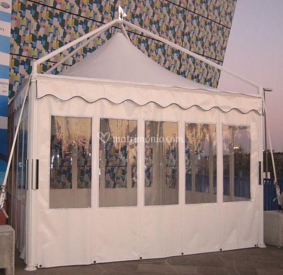 Gazebo con pareti laterali pvc finestrato