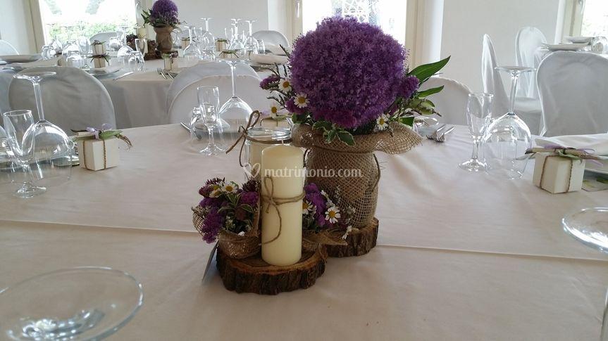 Centrotavola Matrimonio Rustico : Fiorincanto di gregorini laura
