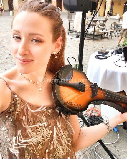 Aperitivo con violino elettric