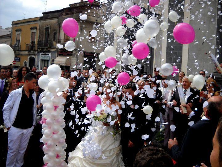 Effetto palloni sparacuori di happy party addobbi per for Addobbi per feste