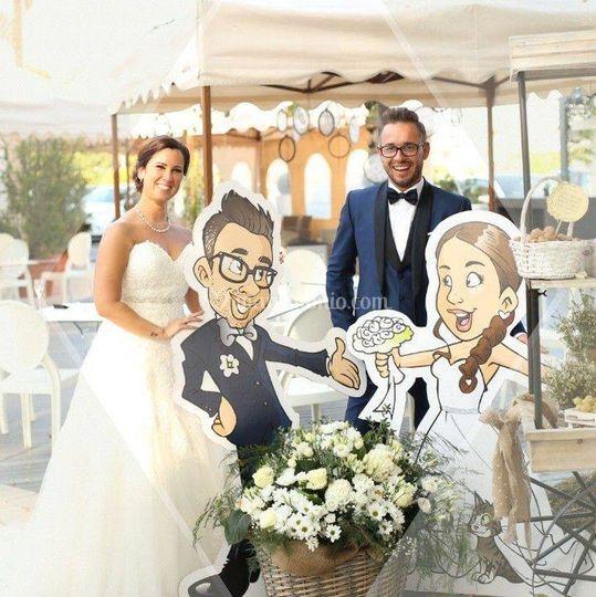 Sposi con sagome