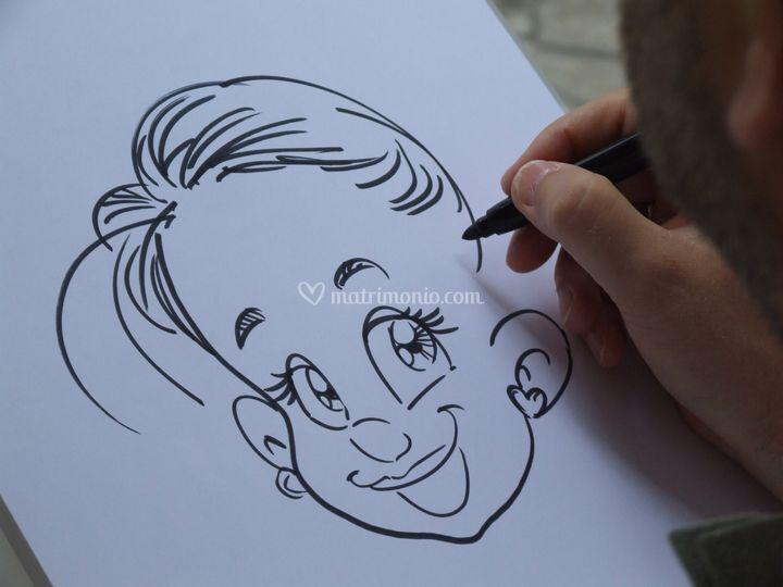 Caricatura di bambina