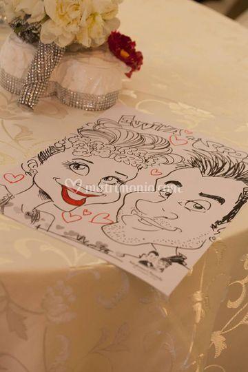 Caricatura di sposi