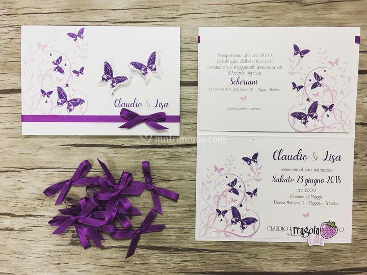 Partecipazioni tema farfalle