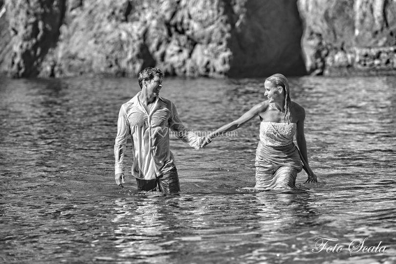 Foto artistica matrimonio