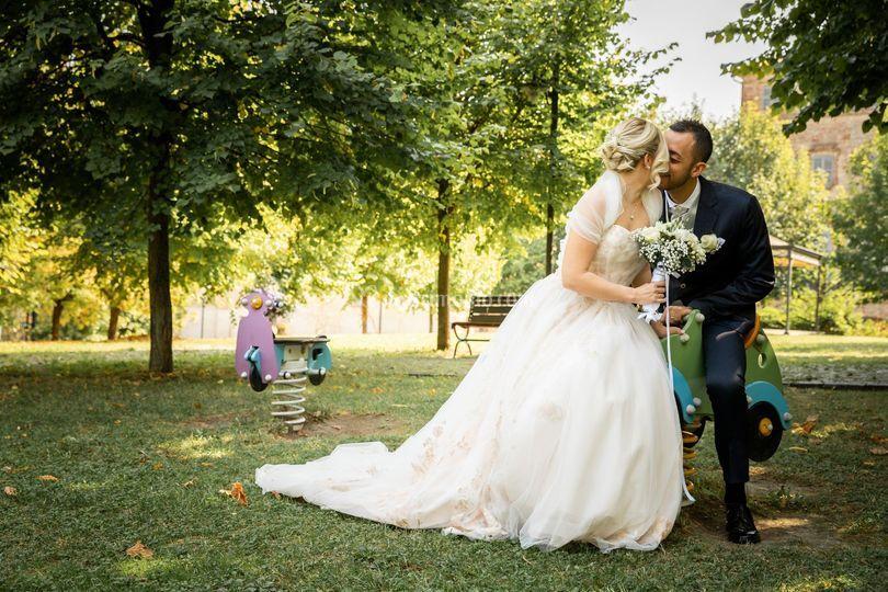 Al parco dopo le nozze