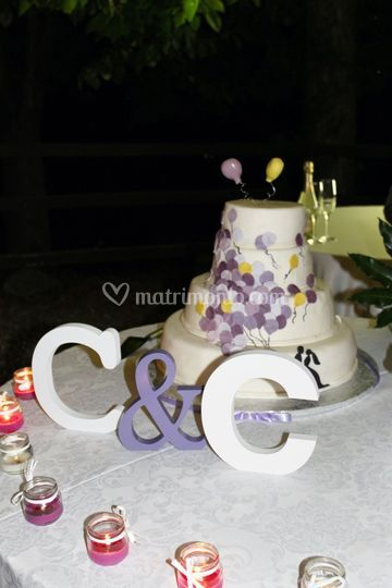 Wedding cake tema palloncini