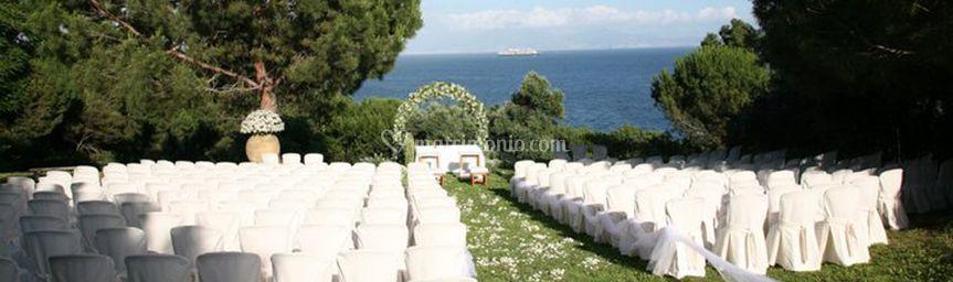 Addobbo matrimonio giardino
