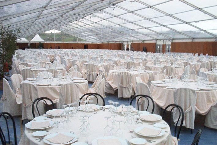 Cerimonia con tenda cristal