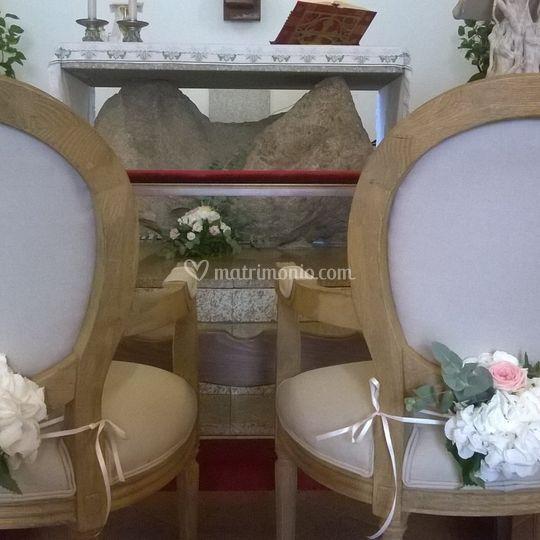 Decoro sedie sposi