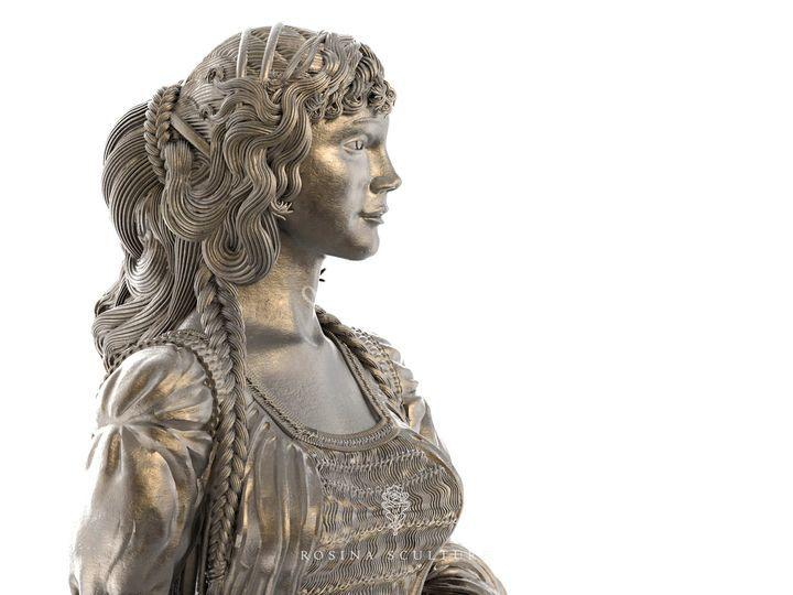 Rosina sculture for Franceschini arredamenti