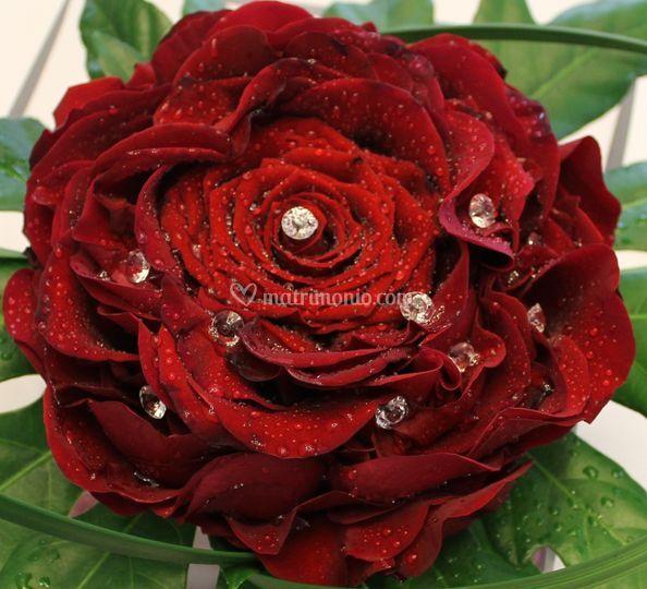 Bouquet rosa e petali