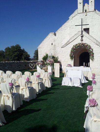Allestimenti esterno chiesa