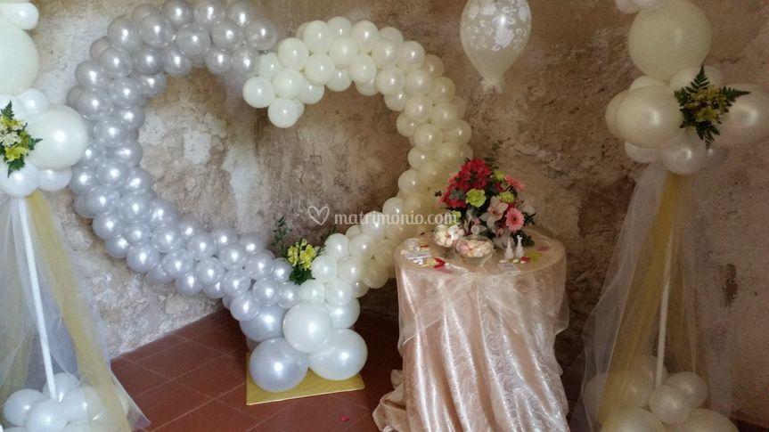 Balloons wedding day