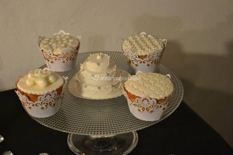 Cup cake nuziali