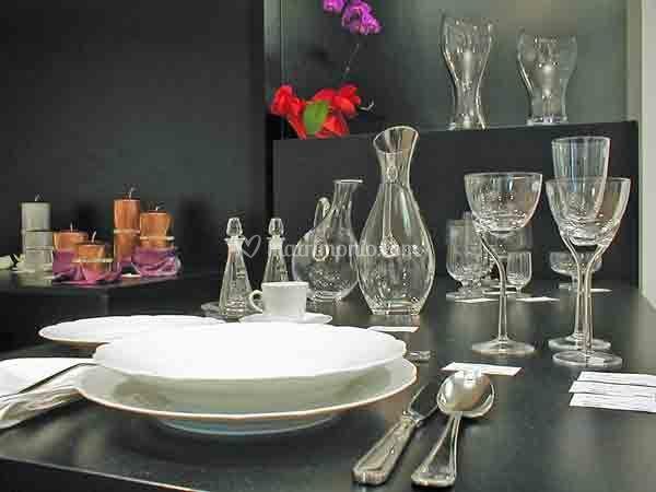 Posta tavola classico - Bicchieri in cristallo Rogaska Crystal