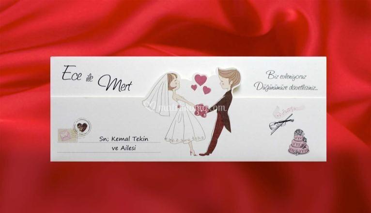 Invito nozze sposi innamorati