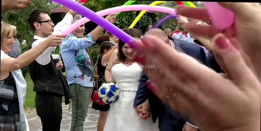 Entrata con arco palloncini14-