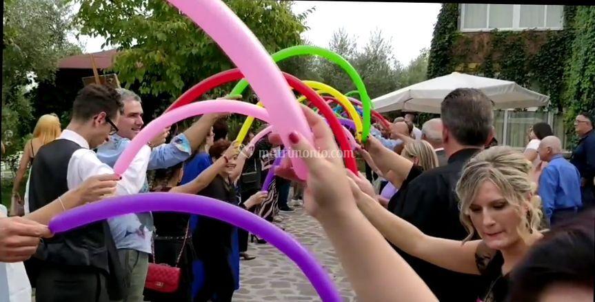 Entrata con arco palloncini6-