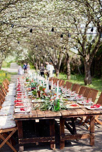 Tavolo imperiale nel bosco