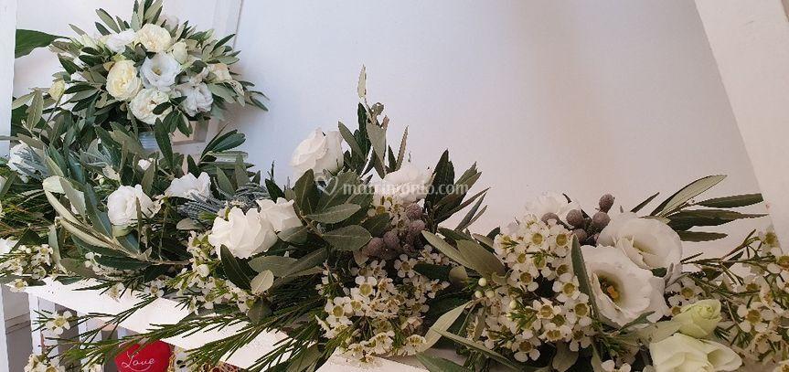 Bouquet sposa più damigelle