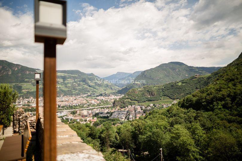 Vista su Bolzano