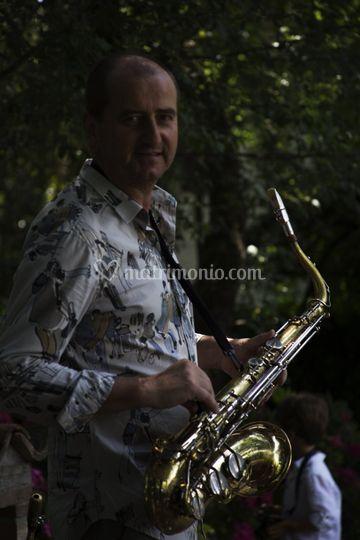 Corrado con sax