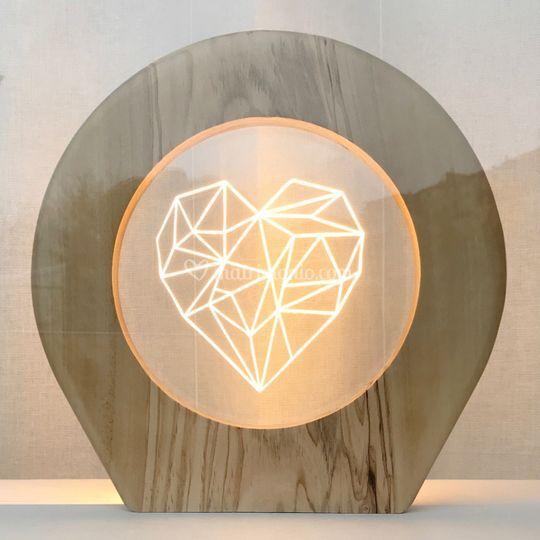 Lampada ulivo tema Diamanti